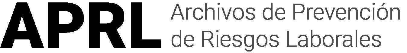 Logotipo de la revista Archivos de Prevención de Riesgos Laborales